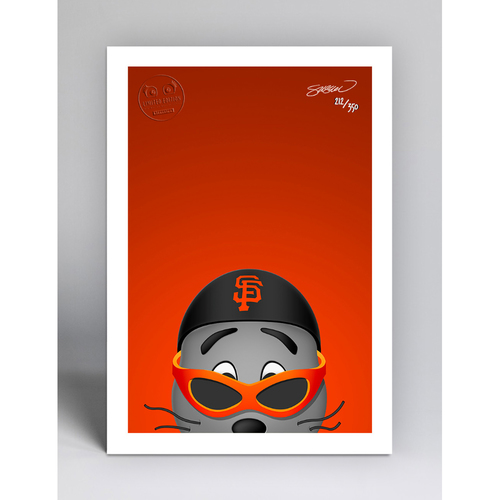 Photo of Lou Seal - Limited Edition Minimalist Mascot Art Print by S. Preston  - San Francisco Giants