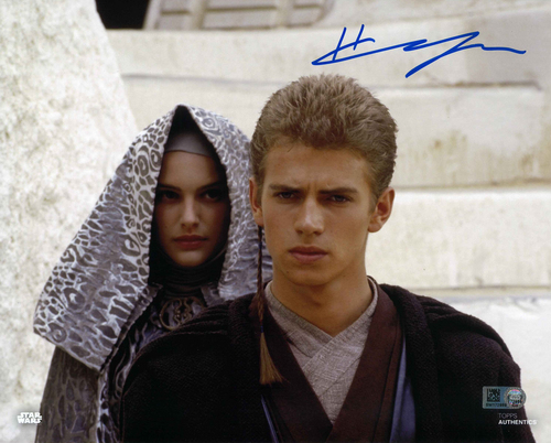 Hayden Christensen As Anakin Skywalker 8X10 Autographed In 'BLUE' INK PHOTO