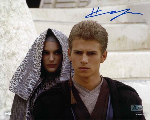 Hayden Christensen As Anakin Skywalker 8X10 Autographed In 'BLUE' INK PHOTO