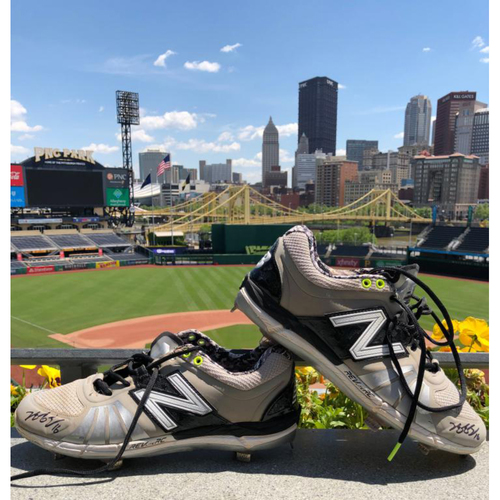Photo of Game Worn Jung-Ho Kang Cleats (Not MLB Authenticated)