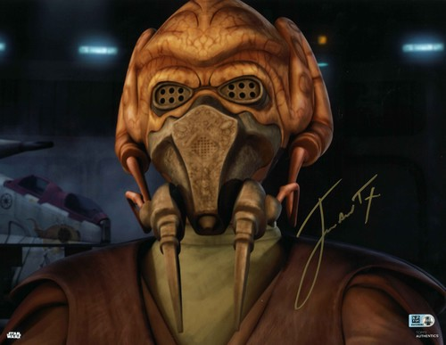 James Arnold Taylor As Plo Koon 11X14 AUTOGRAPHED IN 'Gold' INK PHOTO