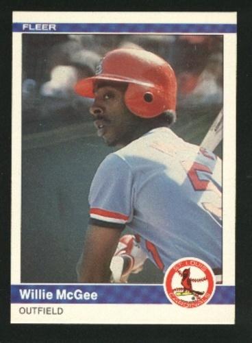 Photo of 1984 Fleer #329 Willie McGee