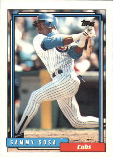 Photo of 1992 Topps Traded #109T Sammy Sosa Cubs