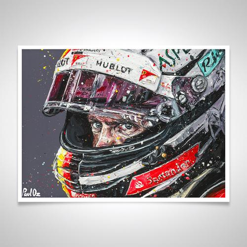 Photo of Sebastian Vettel 2018 - Paul Oz Rolled Print Artwork