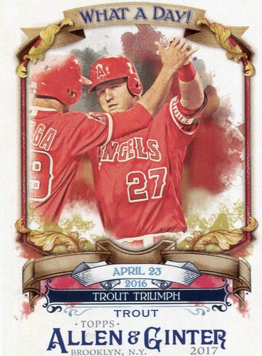 Photo of 2017 Topps Allen and Ginter What a Day #WAD27 Mike Trout