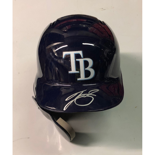 Photo of Team Issued Autographed Helmet: Tyler Glasnow