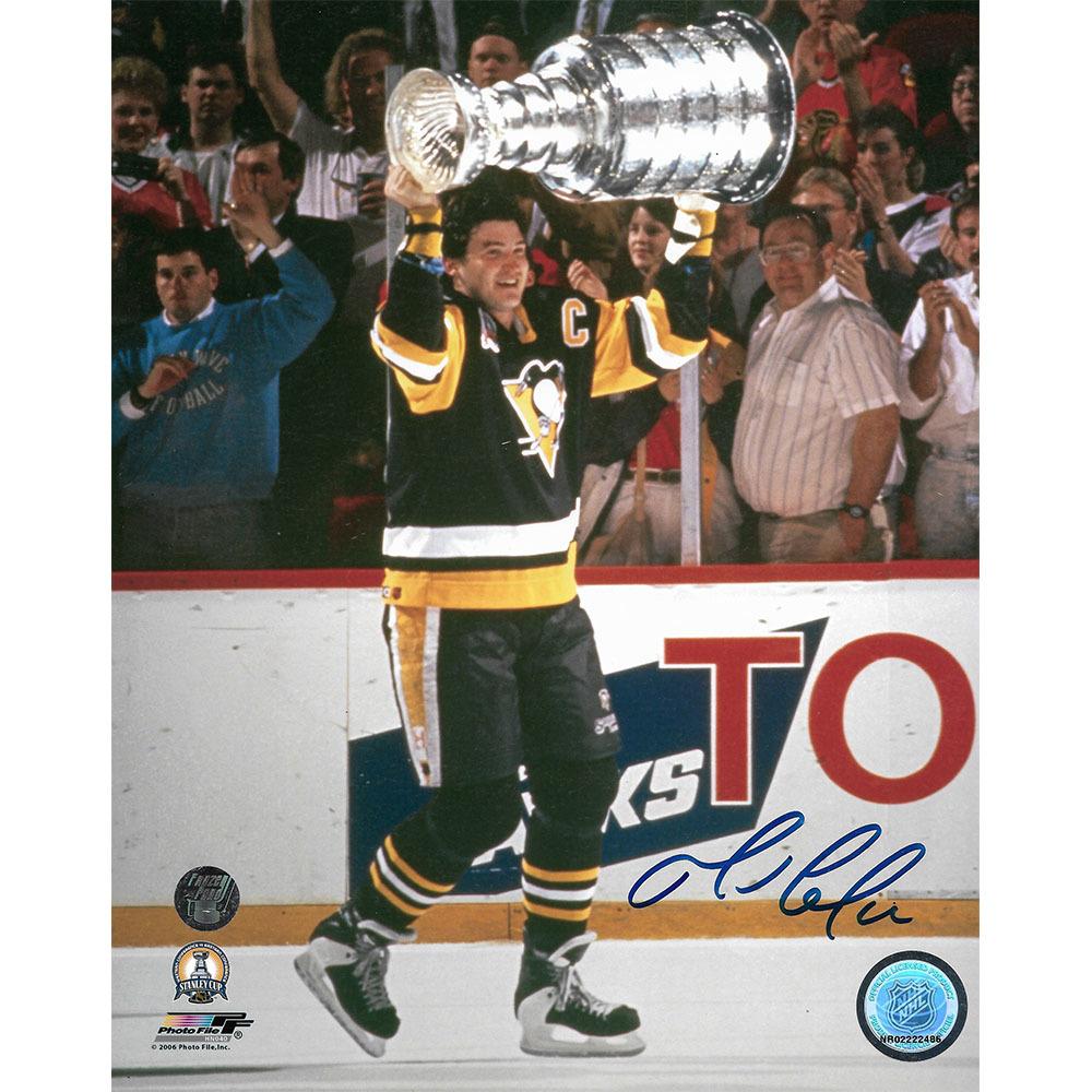 Mario Lemieux Autographed Pittsburgh Penguins 1992 Stanley Cup 8X10 Photo