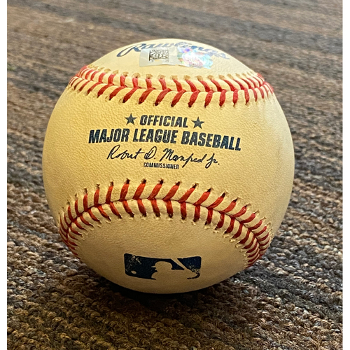 Photo of Game-Used  Baseball - Miami Marlins at Baltimore Orioles (8/4/2020)