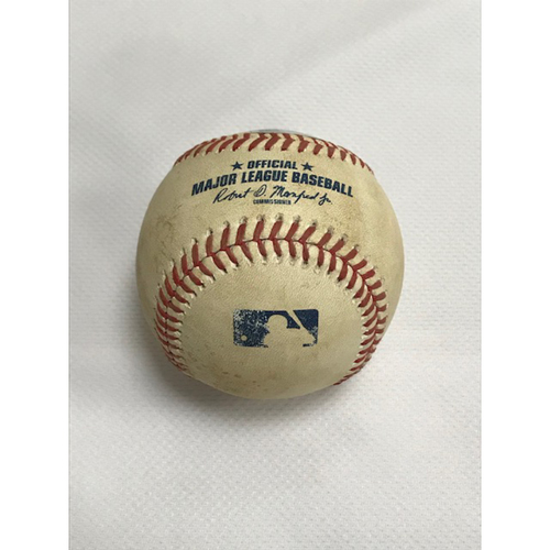 Photo of Game-Used Baseball, 8/29/20 San Francisco Giants at Arizona Diamondbacks: Luke Weaver vs. Alex Dickerson (Single)