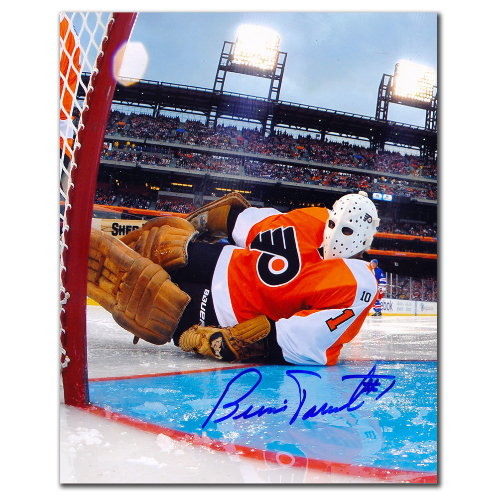 Bernie Parent Philadelphia Flyers Winter Classic Signed 8x10