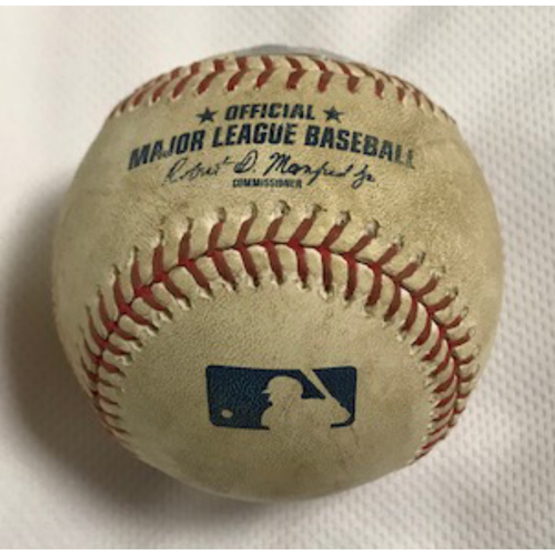 Photo of 3-Time Cy Young Award Winner Clayton Kershaw Game-Used Baseball, 8/2/20 Dodgers at D-backs: Kershaw vs. Ketel Marte (Called Strike, Ball)