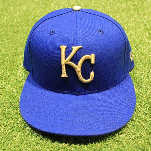 Photo of Game-Used 2020 Gold Hat: Kris Bubic #50 (Size 7 1/4 - DET @ KC 9/25/20)