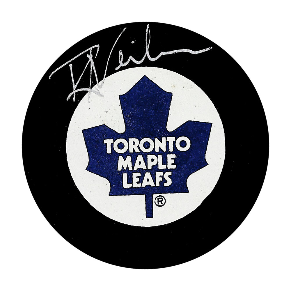 Roger Neilson Autographed Toronto Maple Leafs Vintage Puck