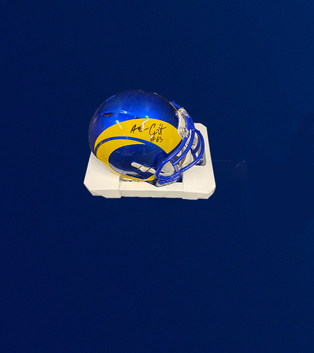Photo of Austin Corbett Signed Mini-Helmet