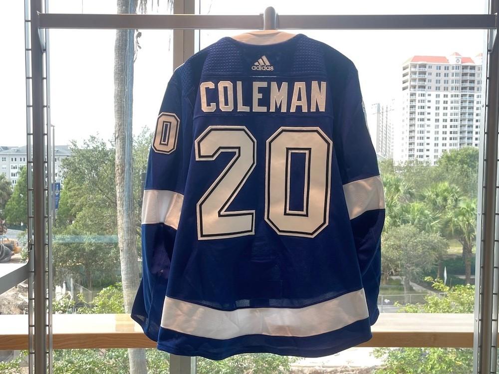 #20 Blake Coleman Tampa Bay Lightning 2021 Stanley Cup Final Game-Worn Jersey