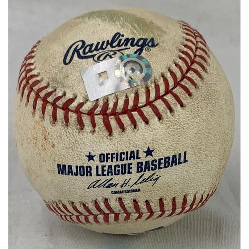Photo of 2010 Game-Used Baseball - Pitcher: Brett Myers, Batter: Albert Pujols - Triple - Top 4 - 7/10/10