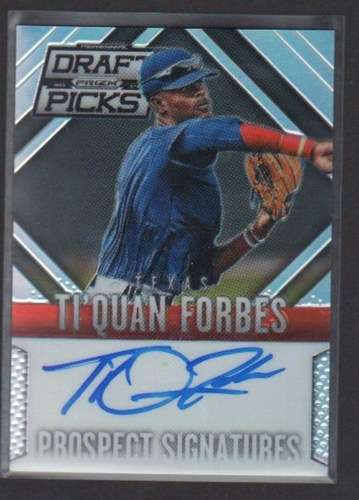 Photo of 2014 Panini Prizm Perennial Draft Picks Prospect Signatures Prizms #59 Ti'Quan Forbes