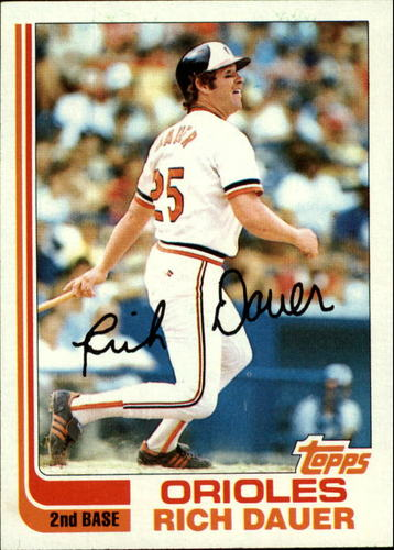 Photo of 1982 Topps #8 Rich Dauer