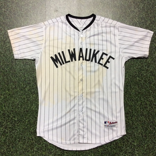 Keon Broxton 2017 Game-Used Milwaukee Bears Jersey