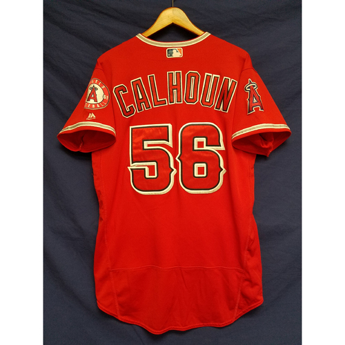 Photo of Kole Calhoun Alternate Red Game-Used Home Run Jersey