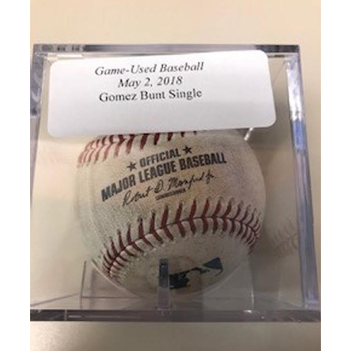 Photo of Game-Used Baseball: Carlos Gomez Bunt Single