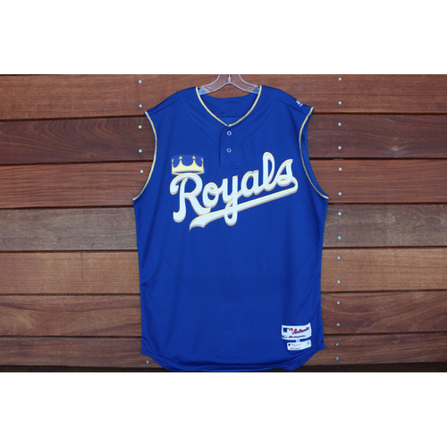 Photo of Game-Used Turn Ahead the Clock Jersey: Salvador Perez 873rd Career Hit (Size 48 - KC at SEA - 6/30/18)