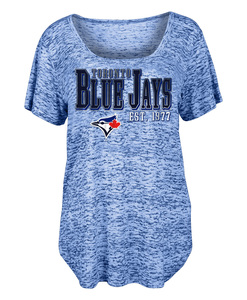 Toronto Blue Jays Women's Burnout Wash T-shirt by New Era