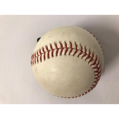 Photo of Johan Camargo Game Used Hit Double Baseball - 6/17/2018