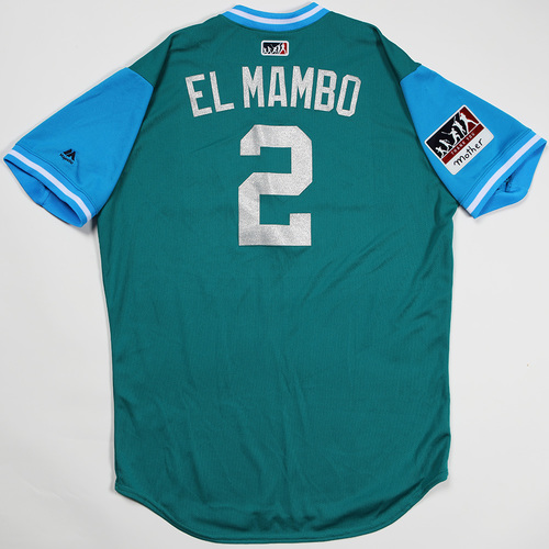 "Photo of Jean ""El Mambo"" Segura Seattle Mariners Game-Used Players' Weekend Jersey"