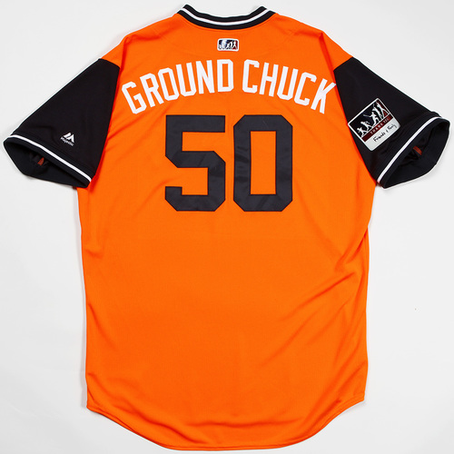 "Photo of Charlie ""Ground Chuck"" Morton Houston Astros Game-Used 2018 Players' Weekend Jersey"