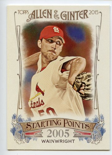 Photo of 2015 Topps Allen and Ginter Starting Points #SP85 Adam Wainwright