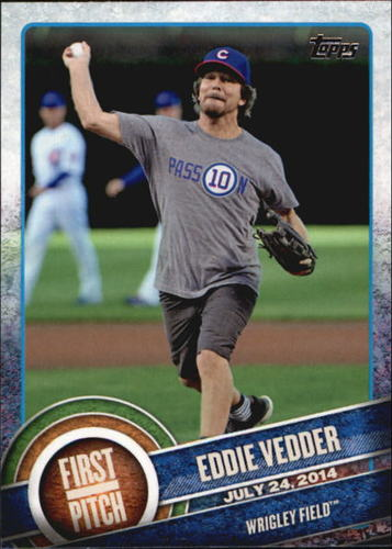 Photo of 2015 Topps First Pitch #FP04 Eddie Vedder