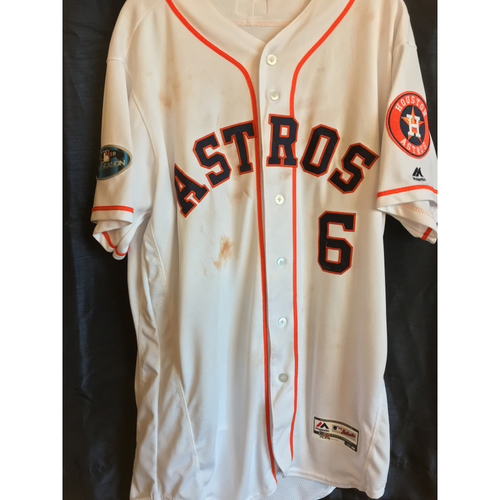 Photo of 2018 Game-Used Jake Marisnick Postseason Jersey (Size 46); 2018 ALDS Games 1 and 2; 2018 ALCS Games 3, 4, and 5