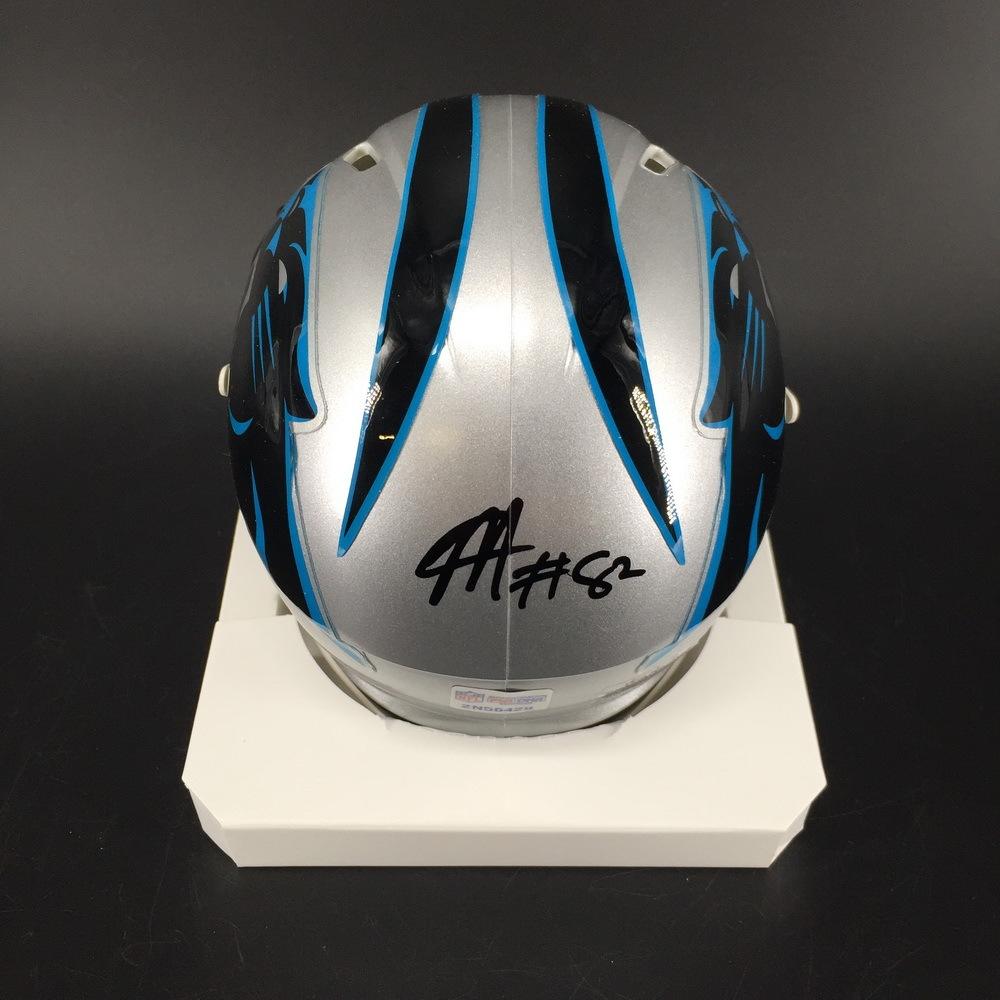 Panthers - Chris Manhertz Signed Mini Helmet