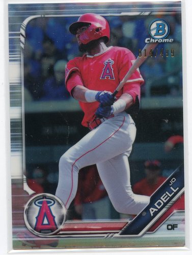 Photo of 2019 Bowman Chrome Prospects Refractors #BCP250 Jo Adell