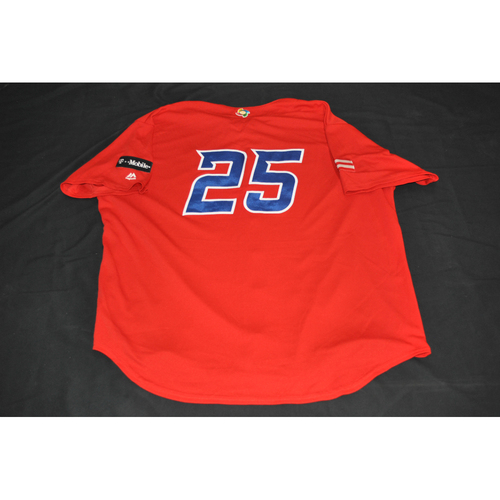 Photo of 2017 World Baseball Classic Batting Practice Jersey - Carlos Delgado - Puerto Rico (Size XL)