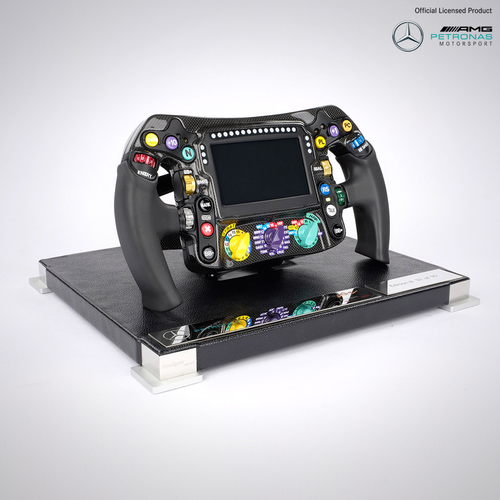 Photo of Mercedes-AMG Petronas Motorsport Number One Edition 1:1 2018 Replica Steering...