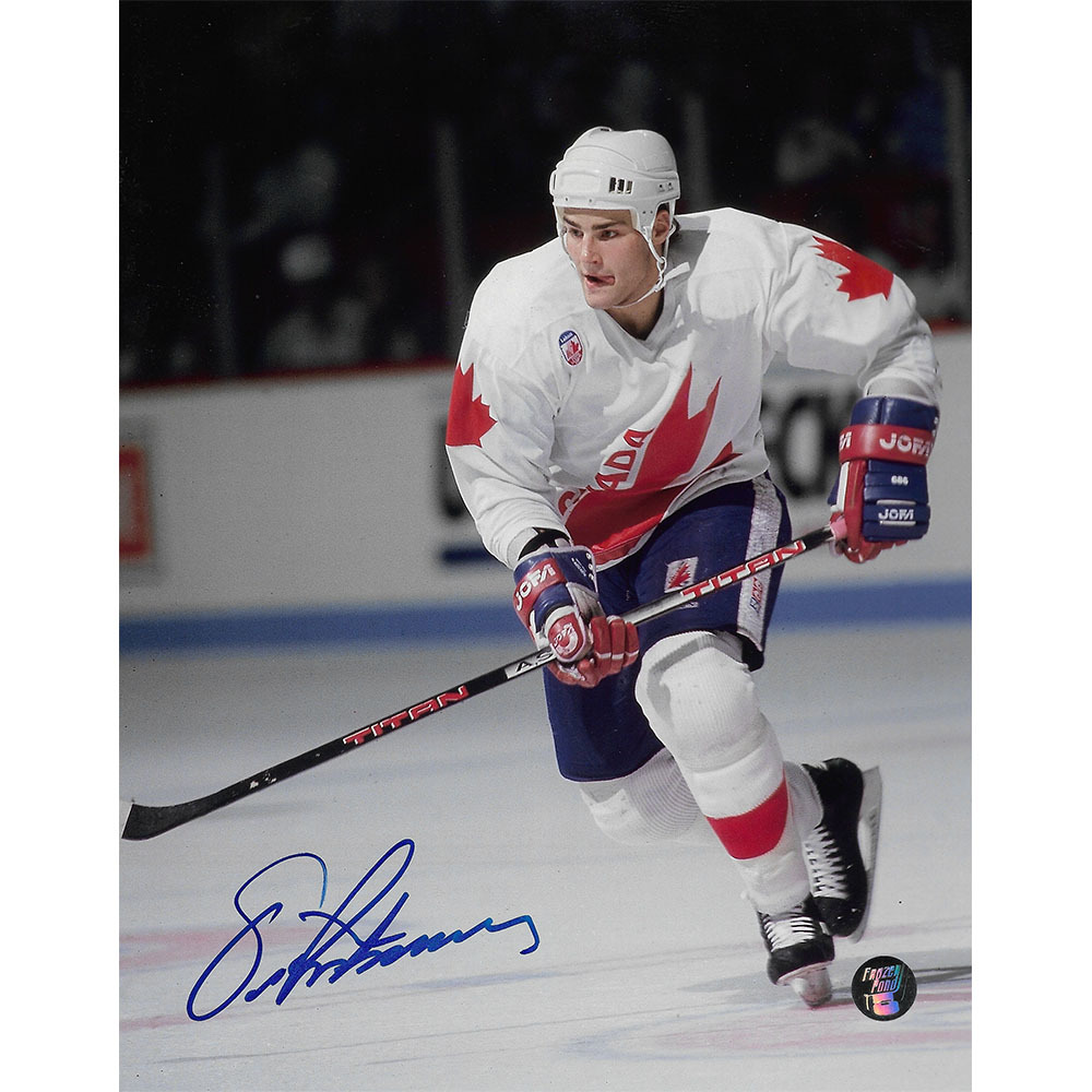 Eric Lindros Autographed 1991 Canada Cup 8X10 Photo