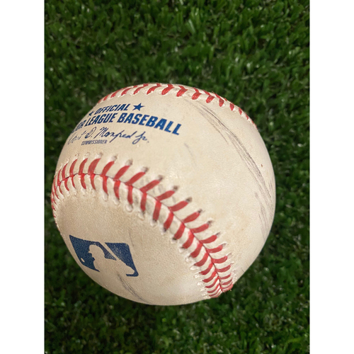 Photo of Game Used Baseball - Batter: Cavan Biggio, Pitcher: Max Fried, Foul - 8/4/20