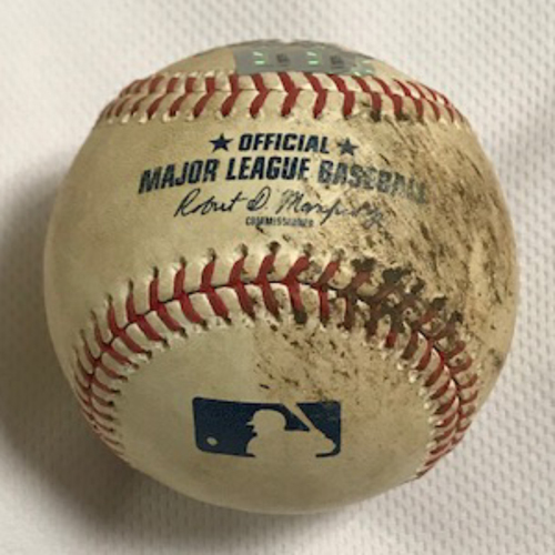 Photo of 7/31/20 Game-Used Baseball, Dodgers at D-backs: Zac Gallen vs. Corey Seager (Ground Out) and Chris Taylor (Foul)