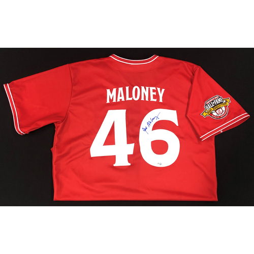 Photo of Jim Maloney - AUTOGRAPHED Game Used Jersey: Reds Hall of Fame Legends Game - Coaching Staff