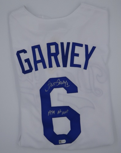 "Photo of Steve Garvey Autographed Authentic White Los Angeles Dodgers Jersey with ""74 NL MVP"" Inscription"