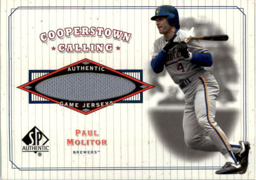 Photo of 2001 SP Authentic Cooperstown Calling Game Jersey #CCPM Paul Molitor