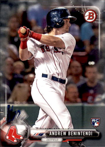 Photo of 2017 Bowman #23 Andrew Benintendi Rookie Card -- Red Sox post-season