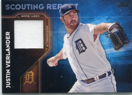Photo of 2016 Topps Scouting Report Relics #SRRJVE Justin Verlander