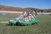 MY CAUSE MY CLEATS - Rams Morgan Fox GAME WORN AND SIGNED CUSTOM CLEATS (Week 13 2017)