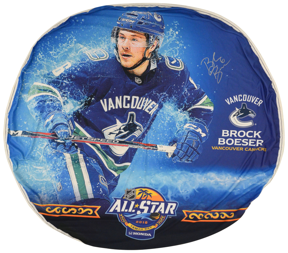Brock Boeser Vancouver Canucks Autographed 2018 All-Star Game Event-Used Banner