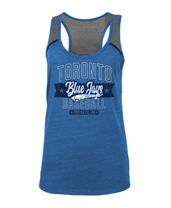 Toronto Blue Jays Womens Excl Tri Blend Jersey Tank by New Era