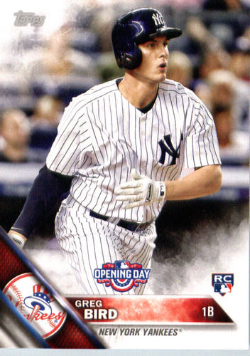 Photo of 2016 Topps Opening Day #OD156 Greg Bird RC