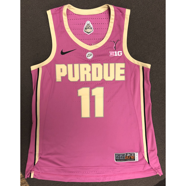 Photo of Purdue Women's Basketball 2018-19 Commemorative Cancer Awareness Pink Jersey #11 / Size 44